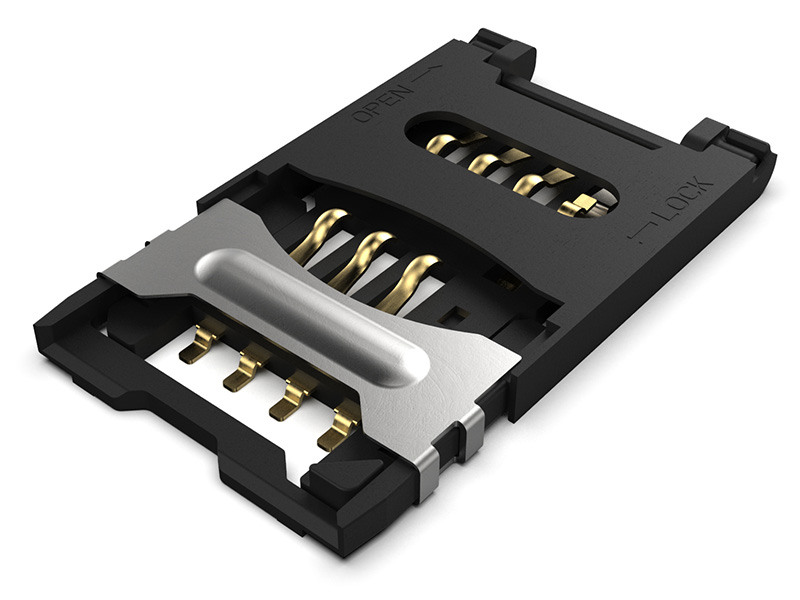 SIM5055 - Hinged SIM Card Connector