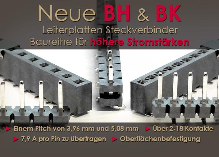 GCT's neue BH & BK Leiterplatten Steckverbinder Baureihe für höhere Stromstärken