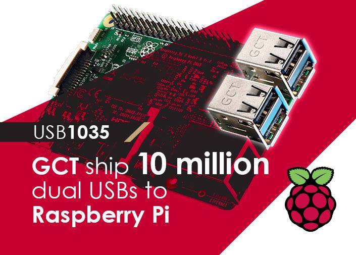 dual usb connectors raspberry pi